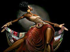 Black art - Dream Catcher by Frank Morrison African American Art, American Artists, American Women, Frank Morrison Art, Art Black Love, Orishas Yoruba, 4 Image, Natural Hair Art, Black Artwork