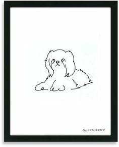 Shih Tzu Framed Line Drawing on shopstyle.com