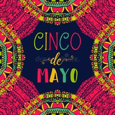 Illustration about Cinco de mayo. Typography poster with ethnic ornament. Illustration of culture, entertainment, marketing - 90799915 Typography Poster, Royalty Free Images, Videos, Pattern Design, How To Draw Hands, Clip Art, Entertaining, Illustration, Hand Drawn