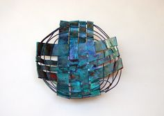 Patina Copper Circle  Copper Basket by Virginia Fisher www.virginiafisher.com