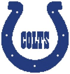 Counted Cross Stitch Pattern Indianapolis Colts by AnjisAntics, $3.50