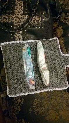 Easy Diaper and Wipes Case Ravelry: Easy Diaper and Wipes Case pattern by Kama von Llama Diaper Wipe Case, Wipes Case, Granny Square Bag, Granny Square Crochet Pattern, Crotchet Patterns, Crochet For Kids, Crochet Baby, Crochet Ideas, Free Crochet