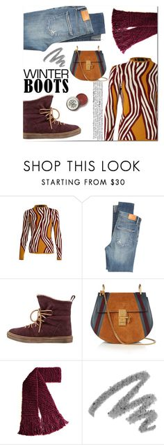 """""""Never Cold"""" by stavrolga ❤ liked on Polyvore featuring Ekaterina Kukhareva, Citizens of Humanity, Tamaris, Chloé, Yves Saint Laurent, polyvoreeditorial and winterboots"""