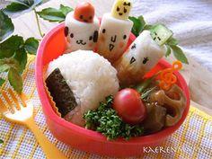 Fish paste chikuwa bento