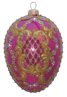 Edward Bar Ornament Egg Pink Christmas Ornament Handmade Christmas