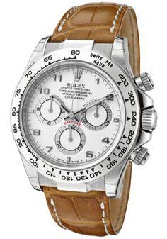 Rolex Daytona Automatic Chronograph White Dial Light Brown Genuine Cro