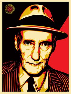 """Burroughs"" by Shepard Fairey. 18″ x 24″ Screenprint. Ed of 450 S/N."