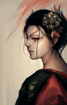 L5R:+Kuni+Sango+by+Arieaesu.deviantart.com+on+@deviantART