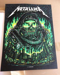 Metallica Poster by Munk One Metallica Concert, Metallica Art, Hard Rock, Thrash Metal, Power Metal, Rock Bands, Metal Bands, Woodstock, Arte Punk