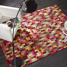 Flair Rugs Retro Multifarben Pixel Bodenteppich - Multi, 120cm x 160cm