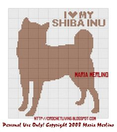 Crochet Living: I Love My Shiba Inu Crochet Graph or Chart!