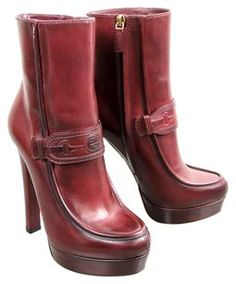 Gucci Athina Leather Raspberry Boots