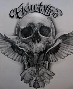 Tattoo Skull Design by Timur Lysenko Skull Tattoos, Black Tattoos, Body Art Tattoos, Sleeve Tattoos, Raven Tattoo, Tattoo On, Chest Tattoo, Design Tattoo, Best Tattoo Designs