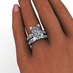 Bridal Set Forever Brilliant Moissanite 5.4 CTW – Bel Viaggio Designs