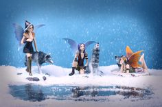 Mystic Realms Fantasy Snow Fairies Decorative Statues #fantasy #fairy #homedecor #giftware