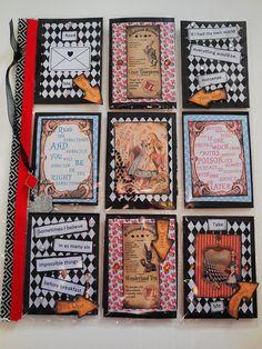 Alice in Wonderland themed pocket letter   by peachesandpinklemonade