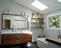White beautiful bathroom   http://www.thinkinteriordesignacademy.com/