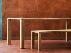 Rectangular oak dining table ELEMENT | Table - OBJEKTEN