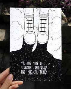 """Inktober """"you are made of stardust and wishes and magical things"""" Black E White, Art Sketches, Art Drawings, Winsor And Newton Watercolor, Arte Sketchbook, Copic Sketch Markers, Art Graphique, Bullet Journal Inspiration, Doodle Art"""