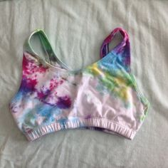 Fruit of the loom tye dye athletic bralette Fruit of the loom tye dye athletic bralette. Hand made the dye. Made it but never wore it. 34 band size will fit 32A-32C and 34A-34B Intimates & Sleepwear Bras