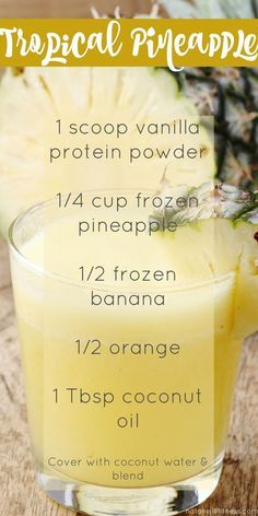 Feel tropical year around this this delicious and healthy smoothie! Click the image for more recipes.