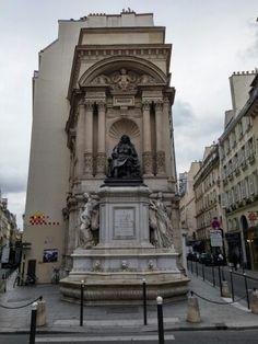 Moliere sculpture, place mireille, 75001, october 2014