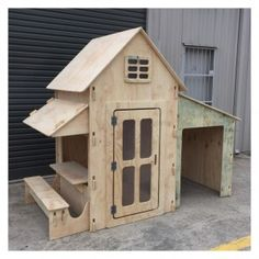 Chicky's Chamber Easy Cubby House with Cafe and Garage! www.4kidsnmore.com Freight Australia Wide Cubby house Gold Coast, Brisbane, Sydney, Melbourne, Adelaide
