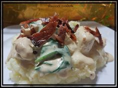 quick, easy and tasty. even the kids love it. Cream Cheese Chicken, Cream Cheese Recipes, French Onion Chicken, Spinach And Cheese, Potato Soup, Chicken Recipes, Bacon, Tasty, Cooking