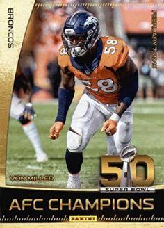 2016 Panini Super Bowl 50 Von Miller Denver Broncos Football Card