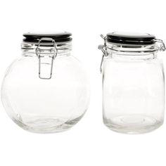 Amici Space Saver Set of 2 Jars, 64 oz