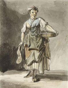 Fish or sea food vendor, Paul Sandby. Museum of London Exhibit: http://www.bbc.co.uk/news/uk-england-london-12819190
