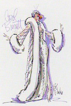 """Carol Burnett design for a Cher Show duet """"It's Lonely At The Top"""" by Bob Mackie"""