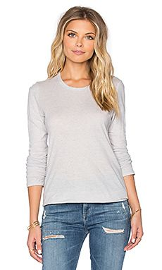 Shop for James Perse Textured Cationic Long Sleeve Tee in Silver at REVOLVE. Free day shipping and returns, 30 day price match guarantee. Sam Edleman, James Perse, Revolve Clothing, Long Sleeve Tees, V Neck, Texture, Shopping, Tops, Silver