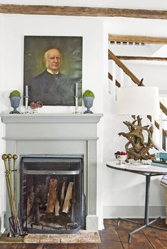 4 Awesome Diy Ideas: Fireplace Design Traditional fireplace built ins grey.Wood Fireplace Mantle fireplace built ins uneven. Farmhouse Fireplace Mantels, Cottage Fireplace, Fireplace Built Ins, Victorian Fireplace, Small Fireplace, Concrete Fireplace, Rustic Fireplaces, Faux Fireplace, Fireplace Remodel