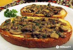 Pirítós Stroganoff módra Hungarian Recipes, Street Food, Scones, Vegetable Pizza, Hot Dogs, Hamburger, Sandwiches, Favorite Recipes, Meals