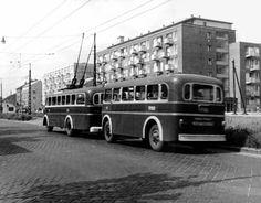 1960-as évek. Pótkocsis troli , Hungária körút,