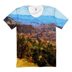 Utah's Bryce Canyon Scenic Women's Tee sublimation t-shirt all over print