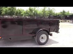 Hydraulic Dump Trailer 5x10 - 2 Ft. Sides Spreader Gate - http://sleequipment.com/news/hydraulic-dump-trailer-5x10-2-ft-sides-spreader-gate/