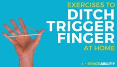 Trigger finger and trigger thumb are two conditions that go hand-in-hand (literally). This condition, at best, is mildly irritating and, at worst, is extremely painful and debilitating. Trigger finger occurs when your finger's tendon she. Trigger Finger Exercises, Finger Stretches, Carpal Tunnel Exercises, Arthritis Exercises, Trigger Finger Treatment, Arthritis In Fingers, Hand Therapy, Health And Beauty Tips, Health Tips