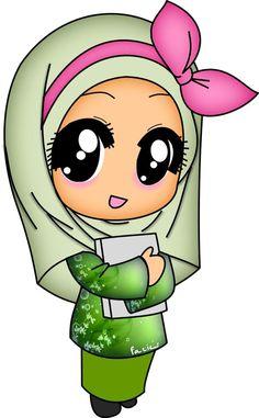 Muslim Images, Muslim Pictures, Islamic Pictures, Cute Monsters Drawings, Cartoon Monsters, Cartoon Drawings, Cartoon Girl Images, Girl Cartoon, Cartoon Art