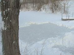 Homemade ice skating rink.  I remember spending hours on the outdoor homemade rink in my hometown, skating until I was about frozen, but I loved it.