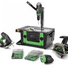 Heard of the Power8 Workshop? A Amazing Tool!!! Best Gift Ideas for your Husband or your Father... The Power8 Workshop is a portable power tool set designed to be an all-in-one solution. Perfect for simple tasks like fixing a chair to remodeling a bathroom. Includes 8 power tools: drill, circular saw, jigsaw, flashlight , drill press, table saw, scroll saw, and table light.