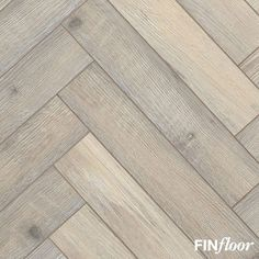 Finfloor Authentic Herringbone laminate - Colour Bleached Beech