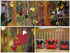 Decoração de área externa do aniversário infantil com tags flutuantes do Mickey - Foto - Diego Ubilla