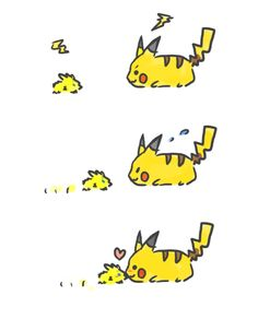 Cute Pokemon pikachu and joltik