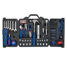 98.99$  Buy now - http://alio3y.worldwells.pw/go.php?t=32689914478 - WORKPRO 201PC Portable Mechanic Tool Set with Soufflez Box High Quality Home Tool Kits 98.99$
