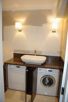 incorporating washing machine in bathroom - Google Search