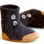 I love the baby boots! These are especially cute with the felt and leather.