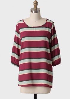 True Devotion Striped Blouse
