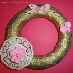 Wreath with roses Heart Ring, Roses, Wreaths, Flowers, Jewelry, Jewlery, Pink, Bijoux, Rose